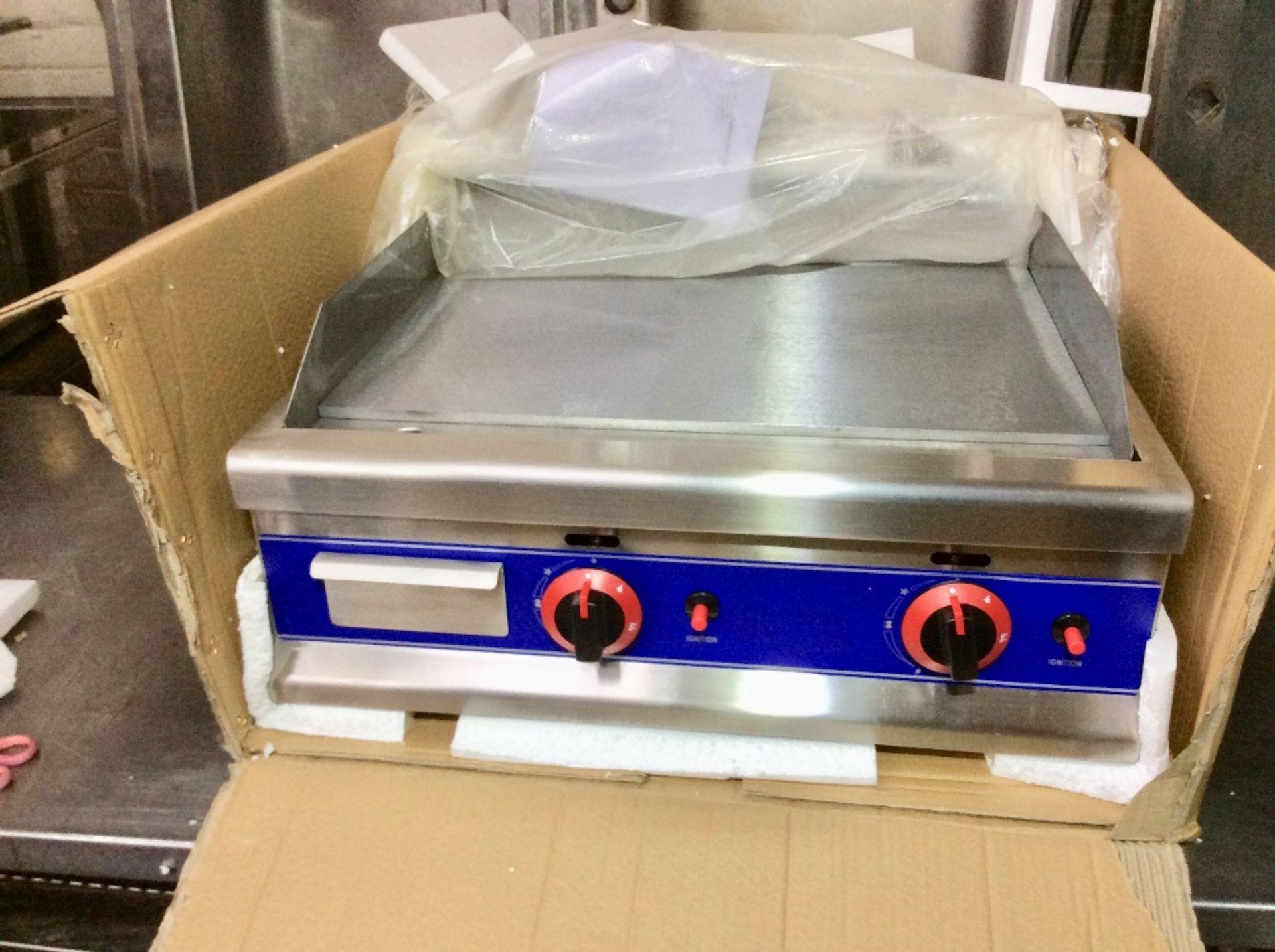 Lot 15 - New & Boxed 2 Burner Gas Griddle / Hot Plate – NO VAT