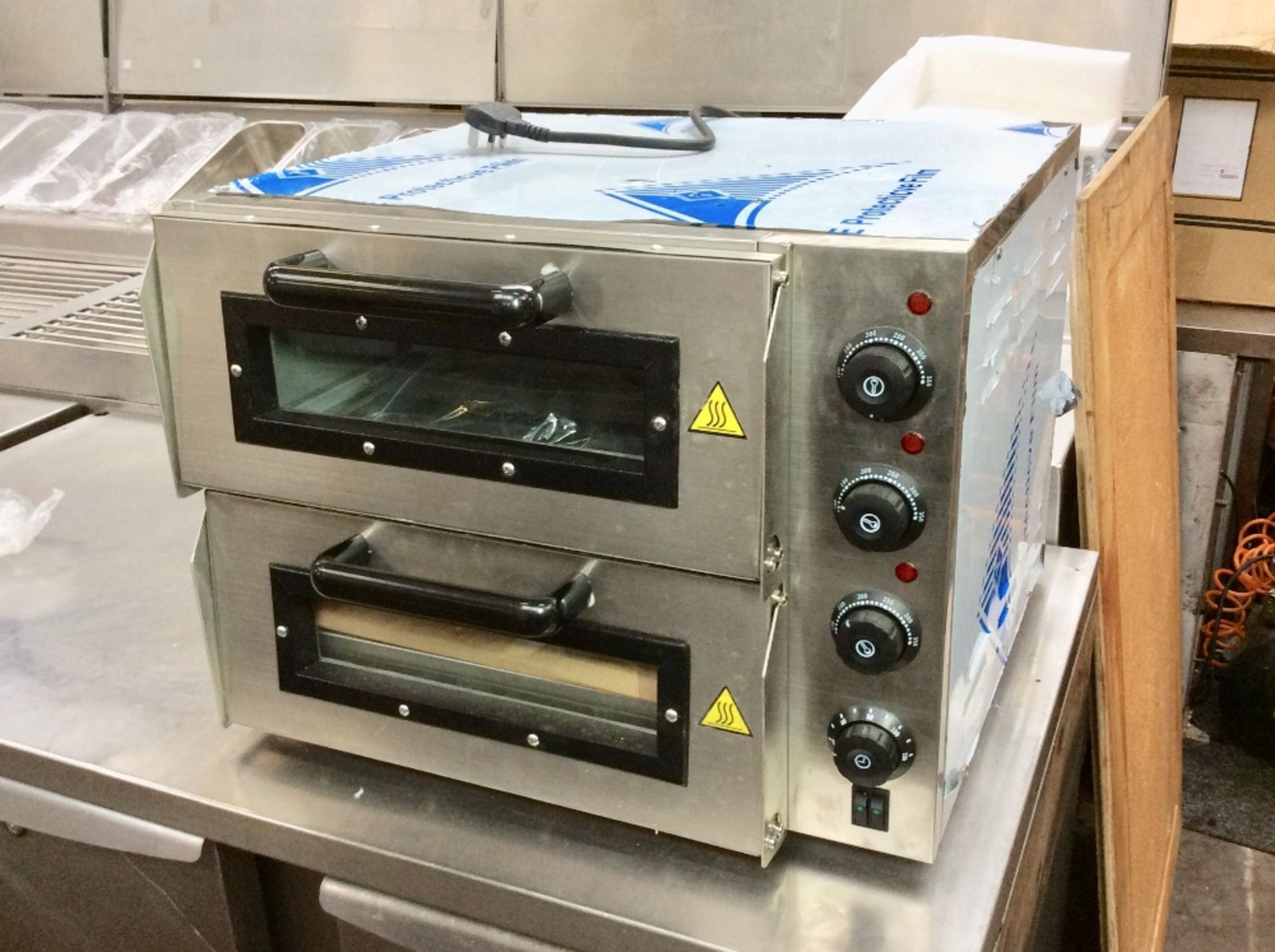 Lot 16 - New & Boxed Double Deck Electric Pizza Oven – Stone Bake - NO VAT