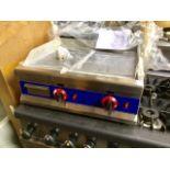 Lot 15A - New Two Burner Gas Hotplate / Griddle – Nat Gas or LPG Gas -NO VAT