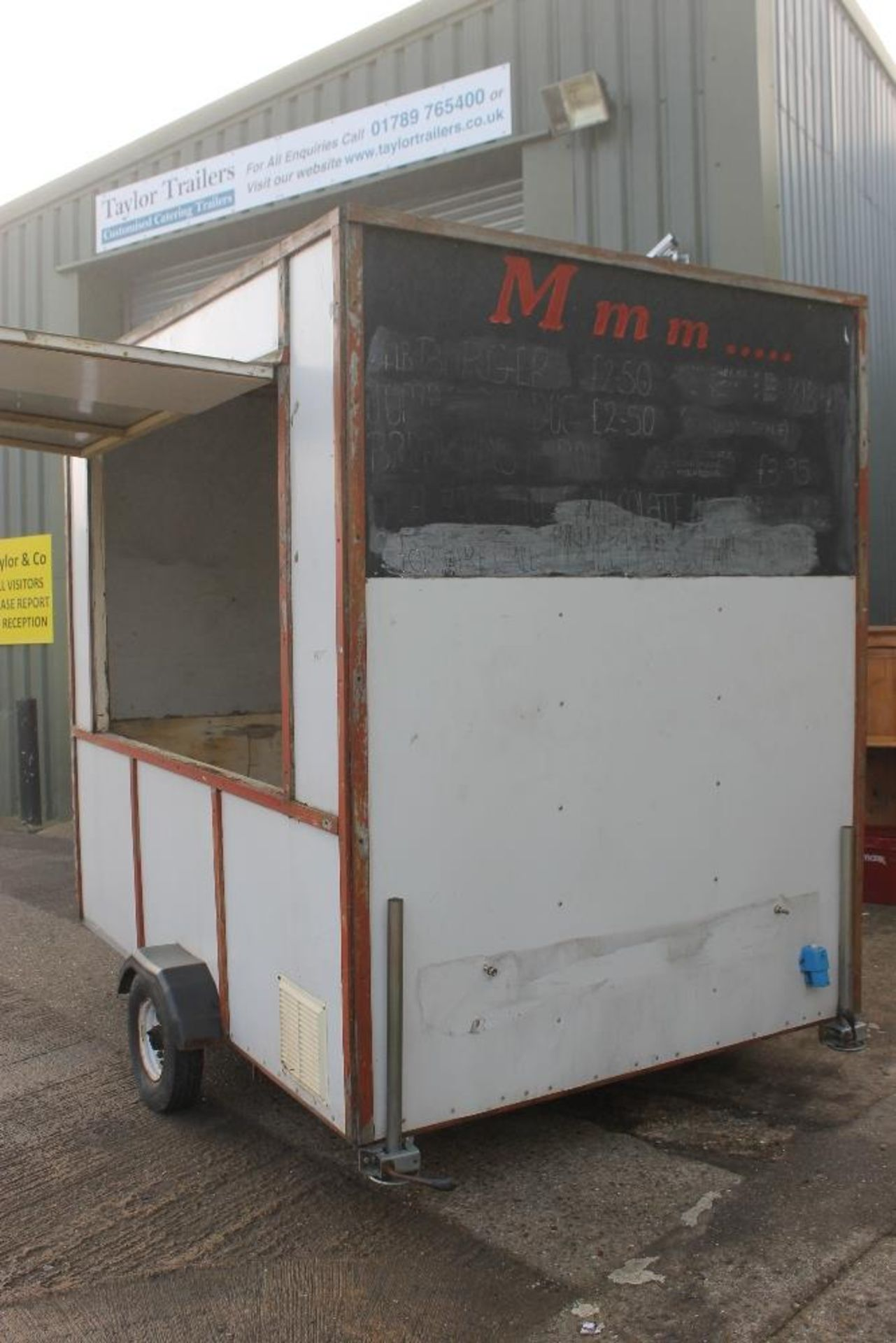 Lot 6 - Small Starter Catering Trailer 7ft x 5ft Metal Construction - NO VAT  This unit is available as a ""
