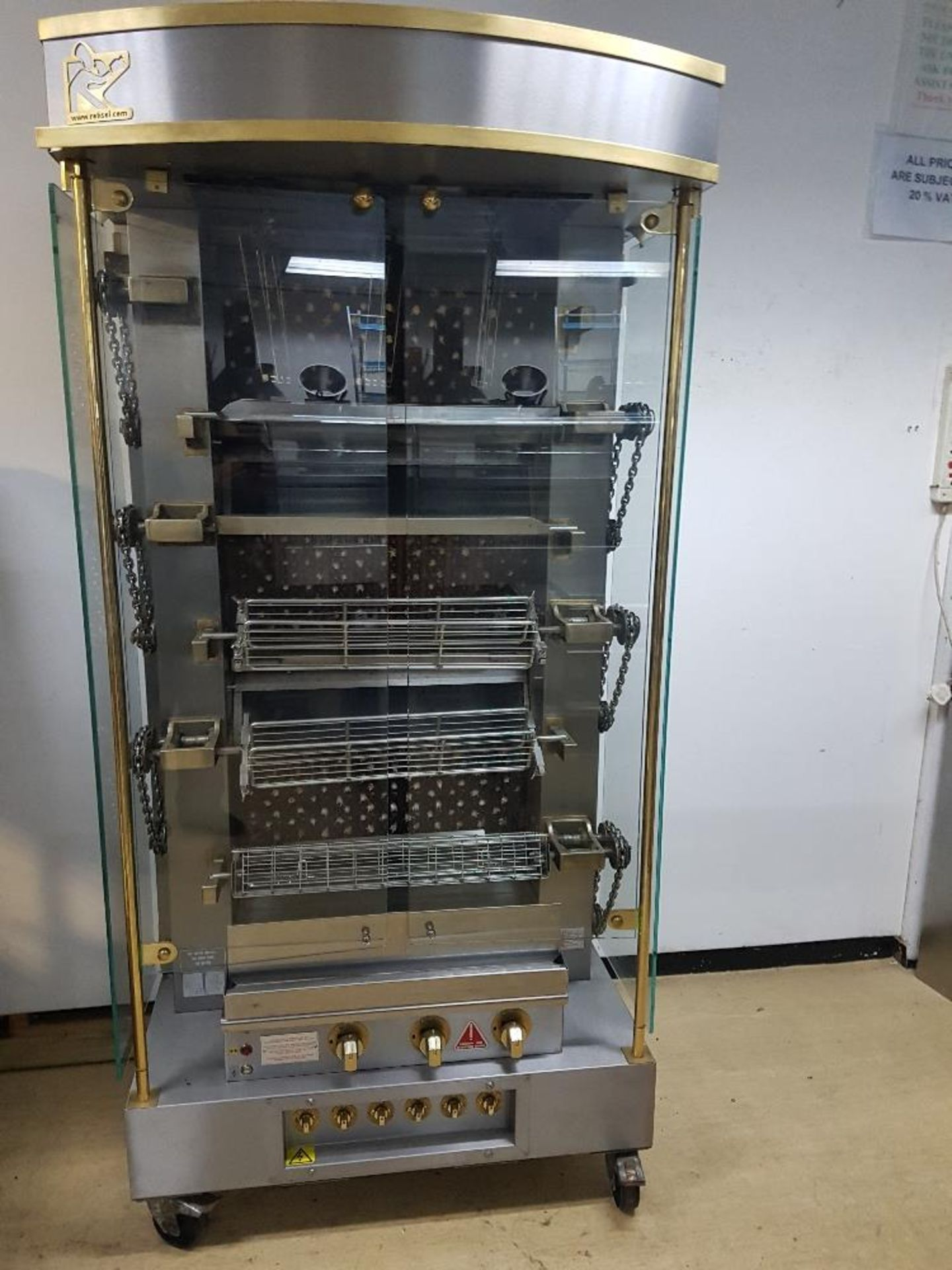 Lot 38 - Rotisel Rotisserie with Separate Holding Cabinet – Nat Gas – Excellent Condition – Buyer to