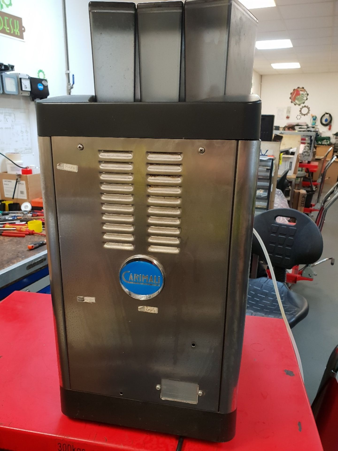 Lot 10 - Carimali Solar Touch Drinks Machine – Bean to cup Coffee + Chocolate & Other DrinksThe Carimali