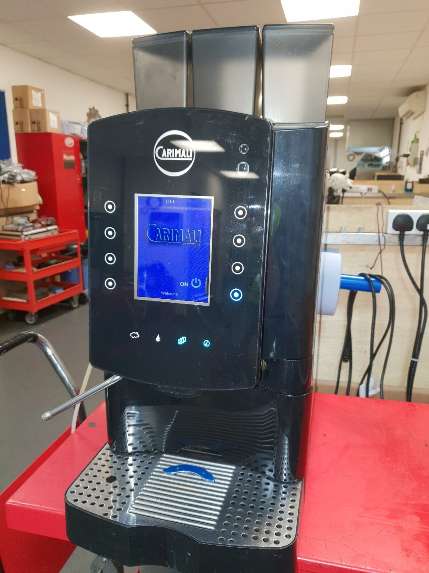 Lot 13 - Carimali Solar Touch Drinks Machine – Bean to cup Coffee + Chocolate & Other DrinksThe Carimali