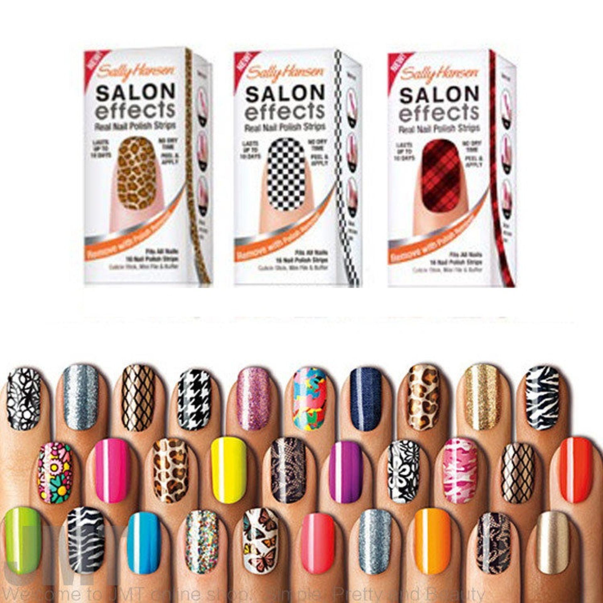Lot 20 - 100 Sally Hanson Salon Effects Nail Polish Strips – NO VATRandom Shades – UK Delivery £15