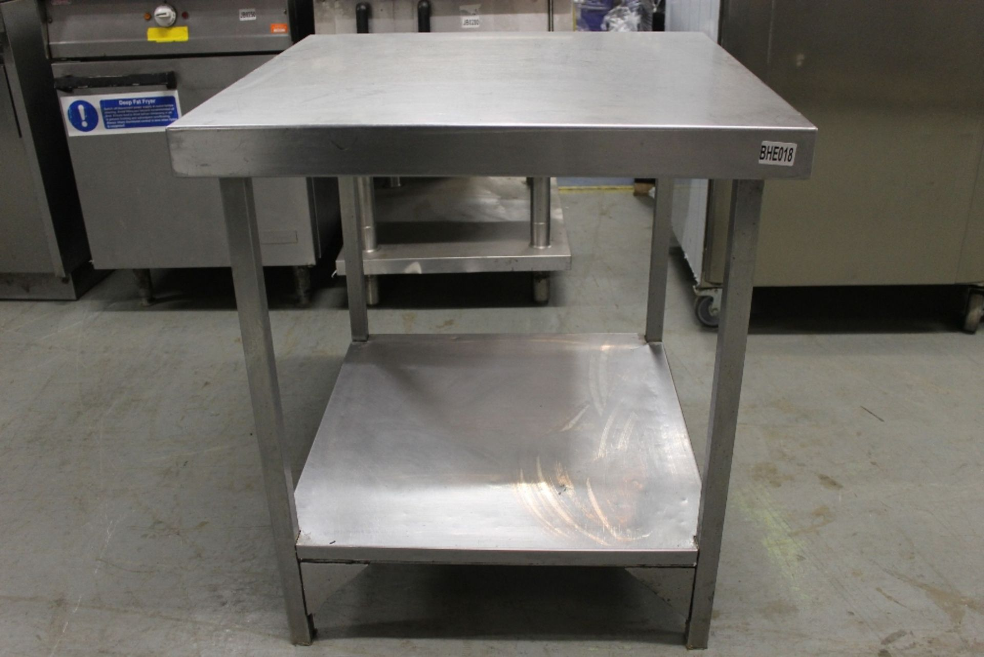 Lot 26 - Stainless Steel Table with Under Shelf – NO VATW71cm x H79cm x D71cm