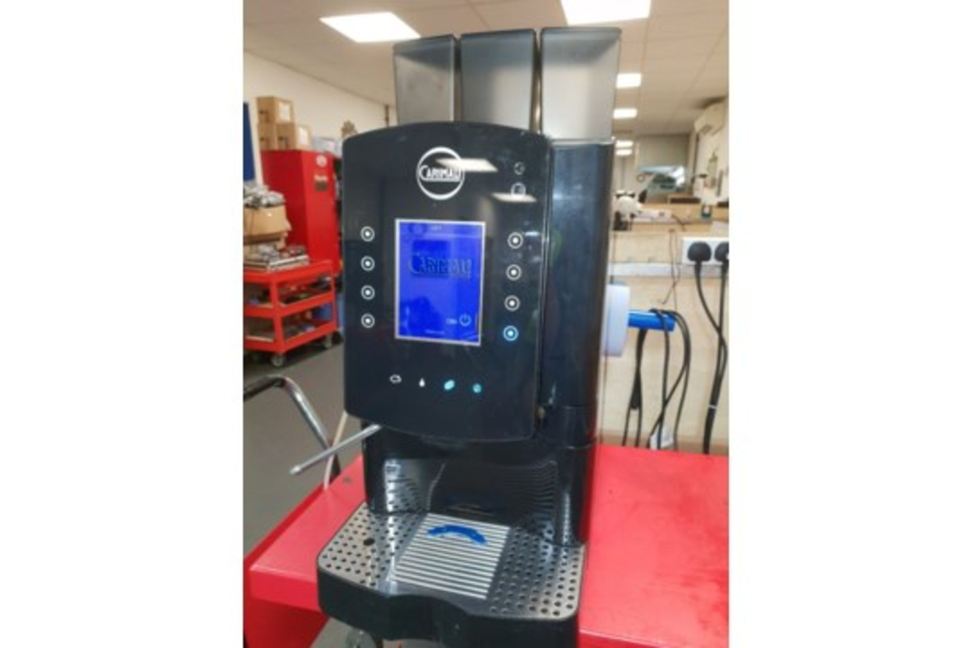 Lot 17 - Carimali Solar Touch Drinks Machine – Bean to cup Coffee + Chocolate & Other Drinks The Carimali