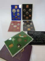 Lot 326 - 10 Royal Mint UK annual set proof coins, 1970 to 1979. Estimate £50-100.
