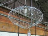Lot 65 - Italian chrome hanging light by Dopotutto. Estimate £10-20.
