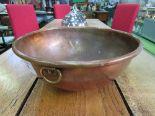 Lot 208 - Large copper mixing bowl. Estimate £15-20.