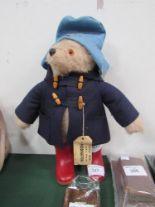 Lot 327 - Paddington Bear soft toy. Estimate £10-20.