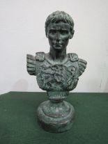 Lot 329 - A miniature bronze bust & torso of Augustus. Estimate £20-40.