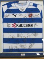 Lot 211 - Framed & glazed Reading Football Club shirt signed by players & manager, 2006/7, their first