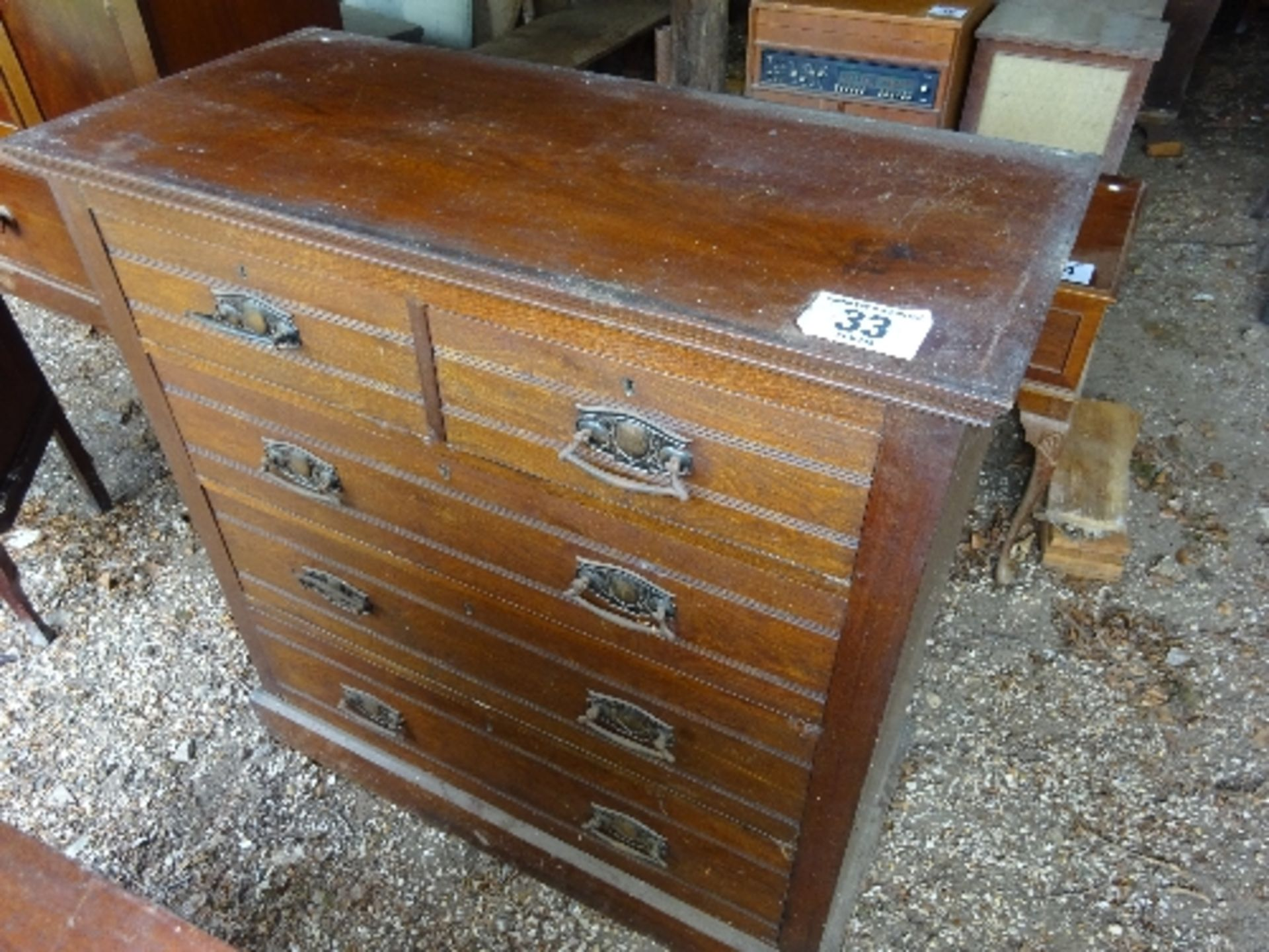 Lot 33 - Oak chest of drawers (2 over 3 drawers)