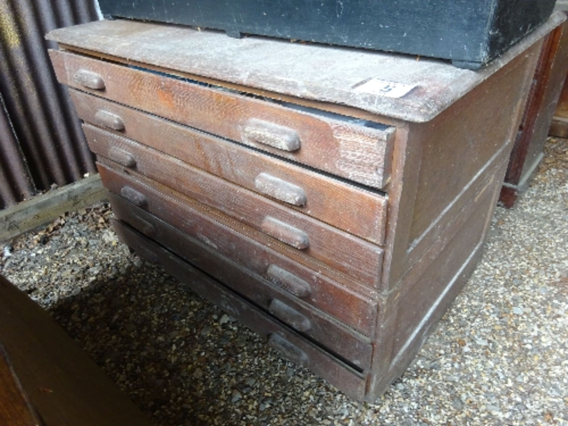 Lot 5 - 6 drawer wooden plan chest