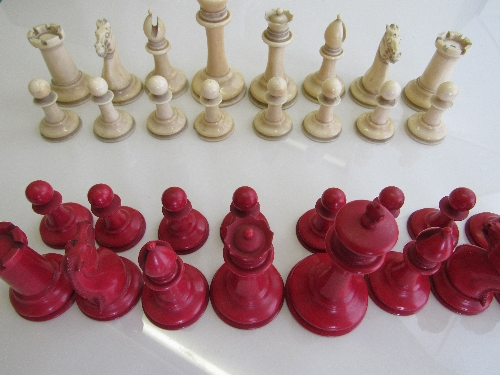 Lot 326 - Jaques ivory chess set, 1849. Fine complete turned & carved ivory Staunton chess set with