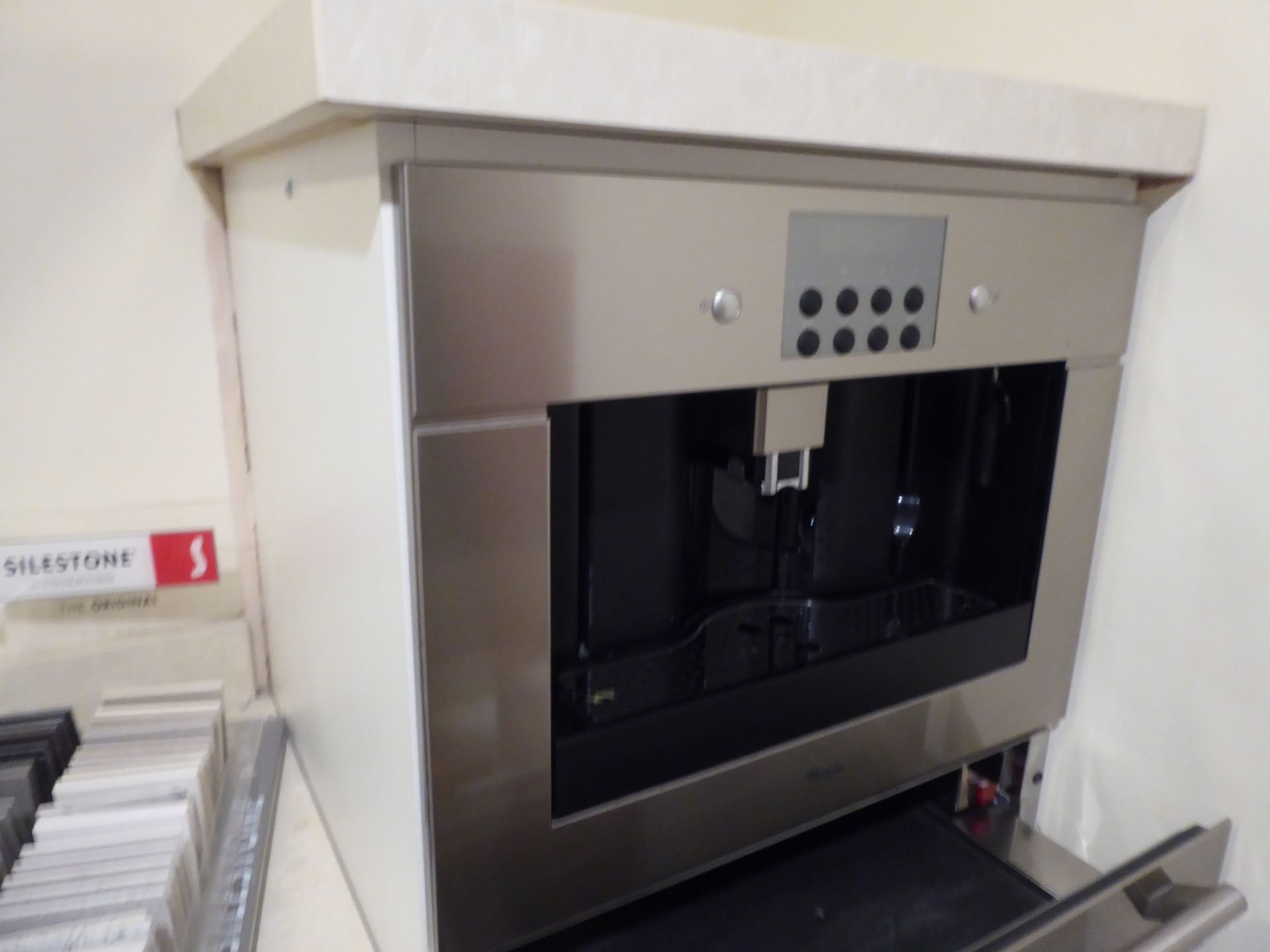 Lot 19 - Whirlpool ACE 100x stainless steel built in coffee machine, 46cm high