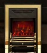 Lot 30 - 1 x Valor Dimension Lyrica BBU Electric Fire in Black and Gold - New and Unused - Model 845 -