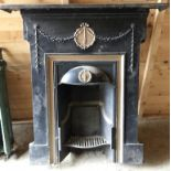 Lot 204 - 1 x Ornate Fire Surround Finished in Black and Gold - H100 x W55 cms - CL320 - Location: Herts WD23