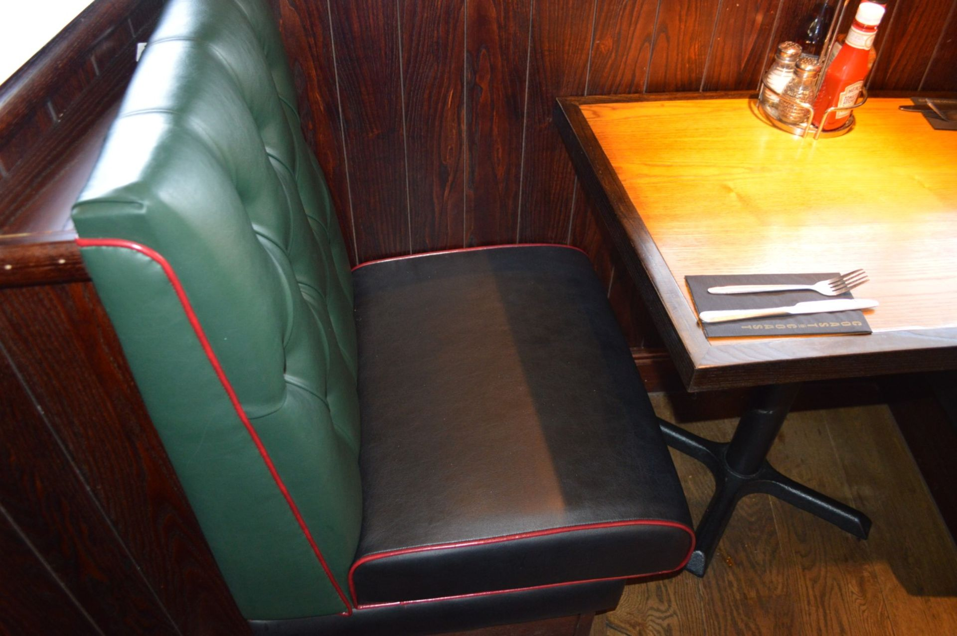Lot 67 - 3 x Sections of Restaurant Booth Seating - Include 2 x Single Seats and 1 x Single Back to Back Seat