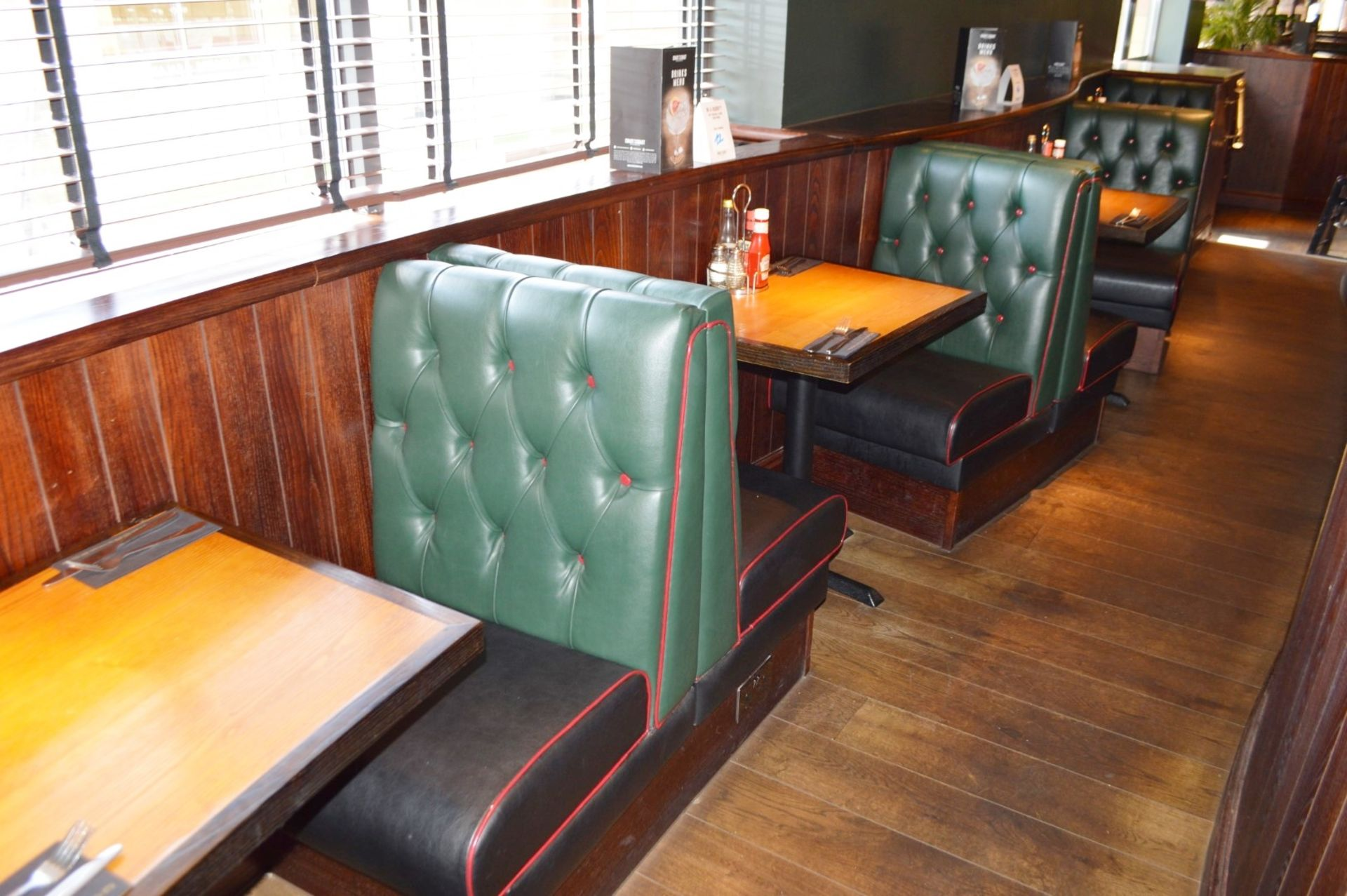 Lot 69 - 4 x Sections of Restaurant Booth Seating - Include 2 x Single Seats and 2 x Single Back to Back Seat