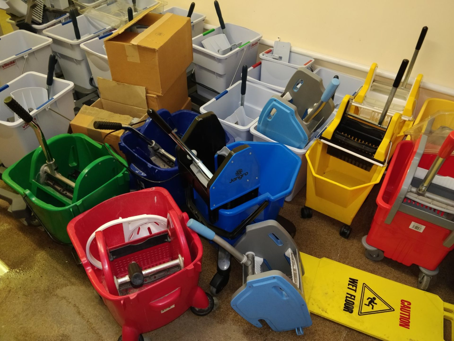 Lot 19 - 27 x Commercial Mop Buckets With Accessories - Ref B2 CL409 - Location: Wakefield WF16Collections:
