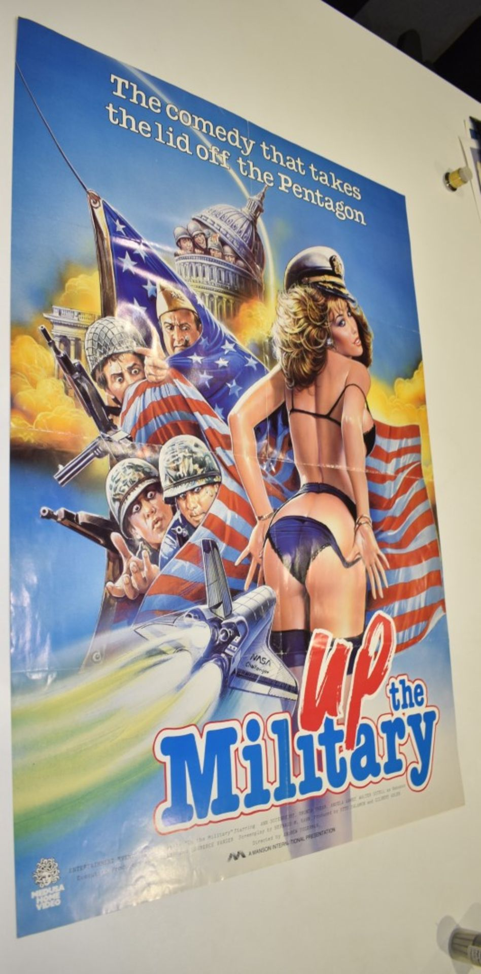 Lot 4082 - 1 x Movie Poster - UP THE MILITARY - The Comedy That Takes The Lid off The Pentagon - Starring