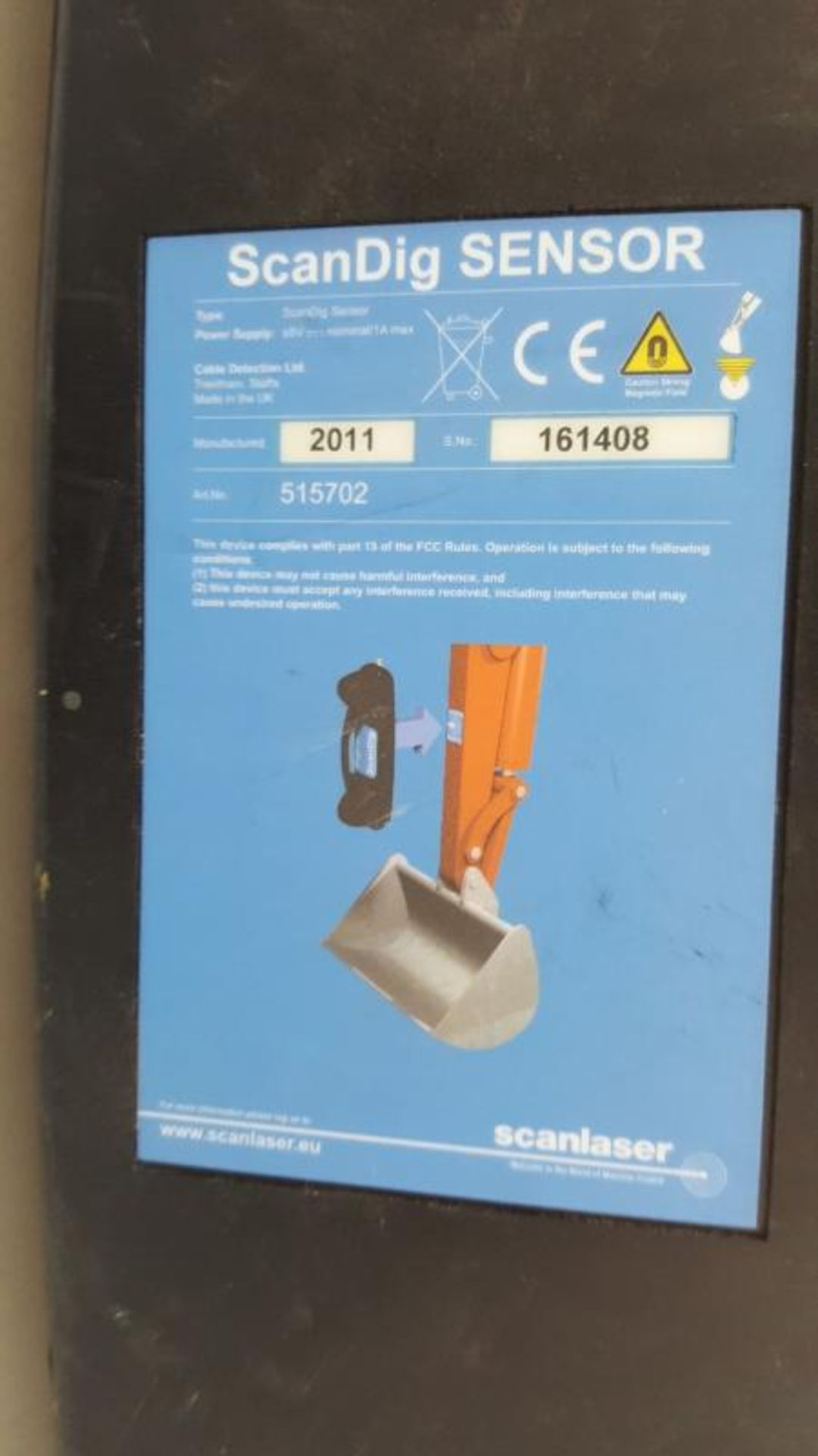 Lot 6422 - 1 x ScanDig Excavator Mounted Cable Location System With Excavator Sensor, ScanDig Digital Control