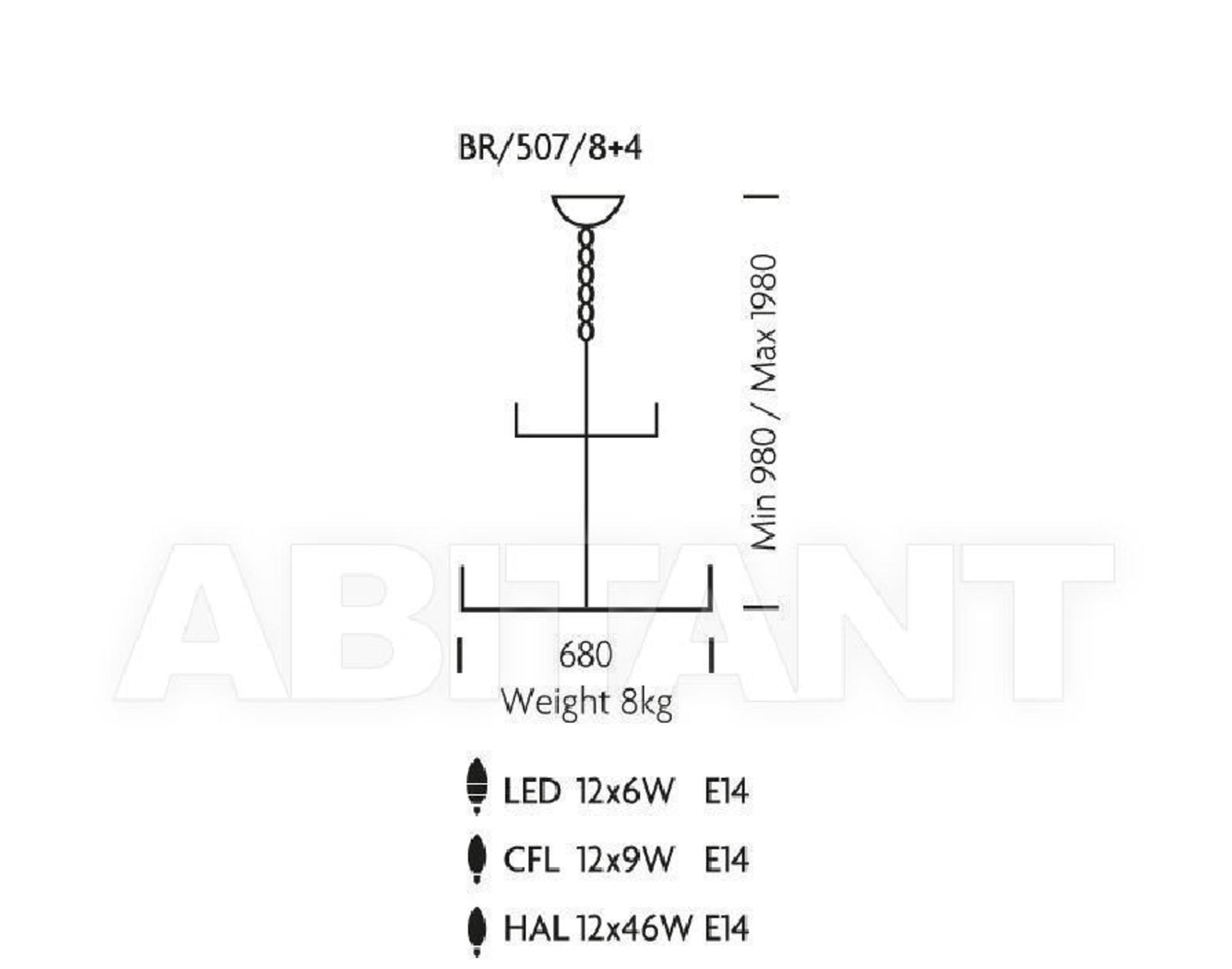 Lot 8041 - 1 x New In Box Chelsom Ballroom Сhandelier BR/507/8+4 - CL001 - REF288/A31 - Location: Altrincham