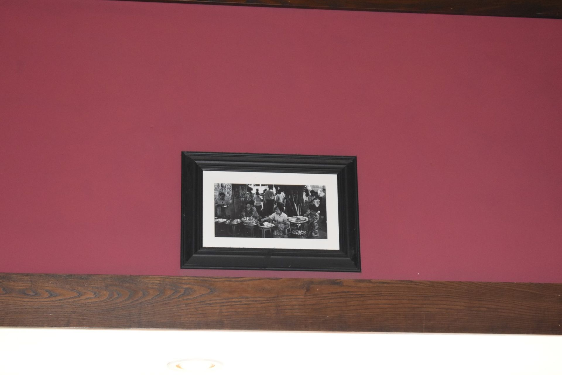 Lot 1340 - 30 x Assorted Pictures in Black Frames - Pictures Will Be Picked at Random From The Selection