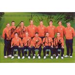 Lot 11 - RYDER CUP - MEDINAH: An excellent multiple signed colour 12 x 8 photograph by all the European golf