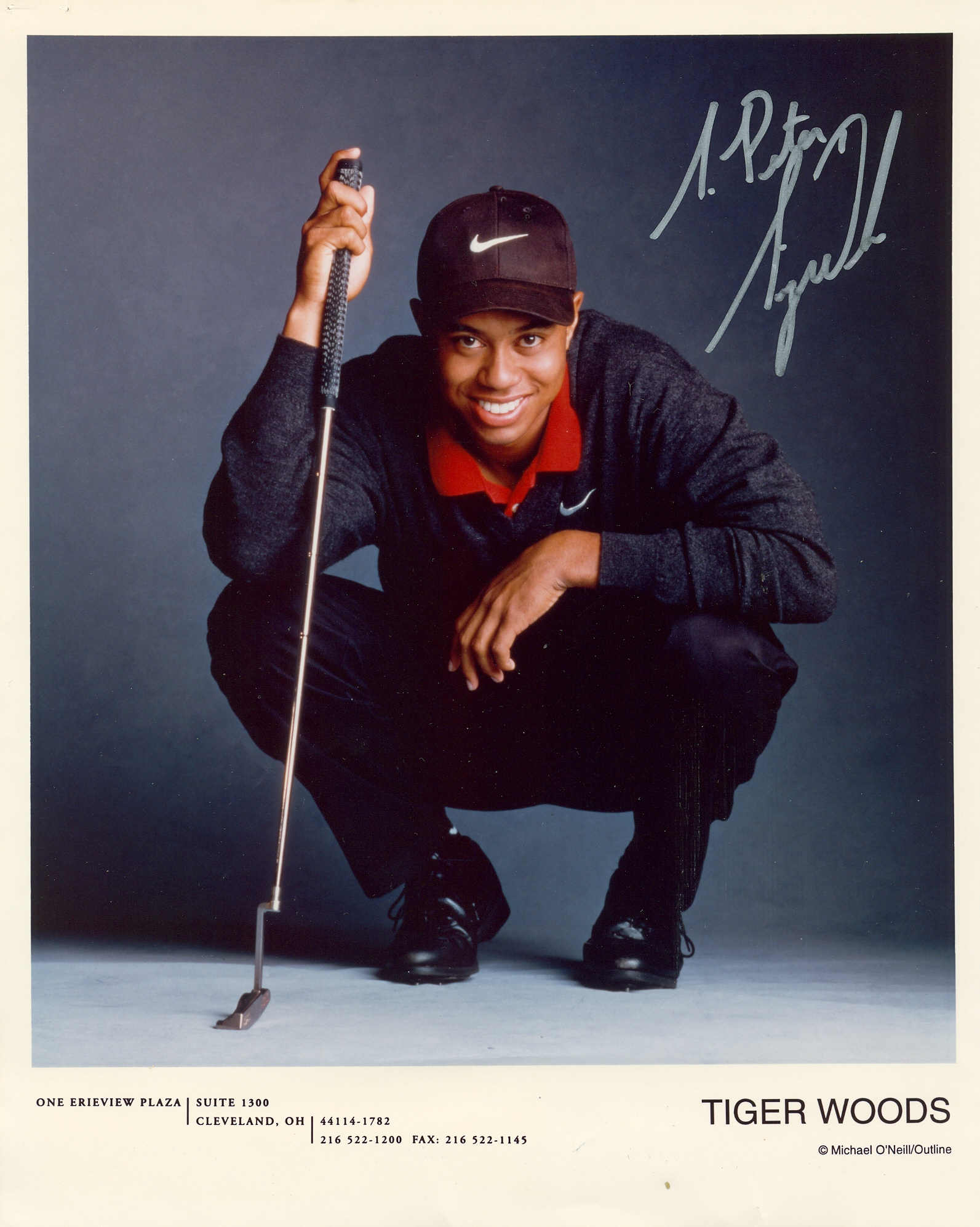 Lot 10 - WOODS TIGER: (1975- ) American Golfer, Open Champion 2000, 2005 & 2006 and U.S.
