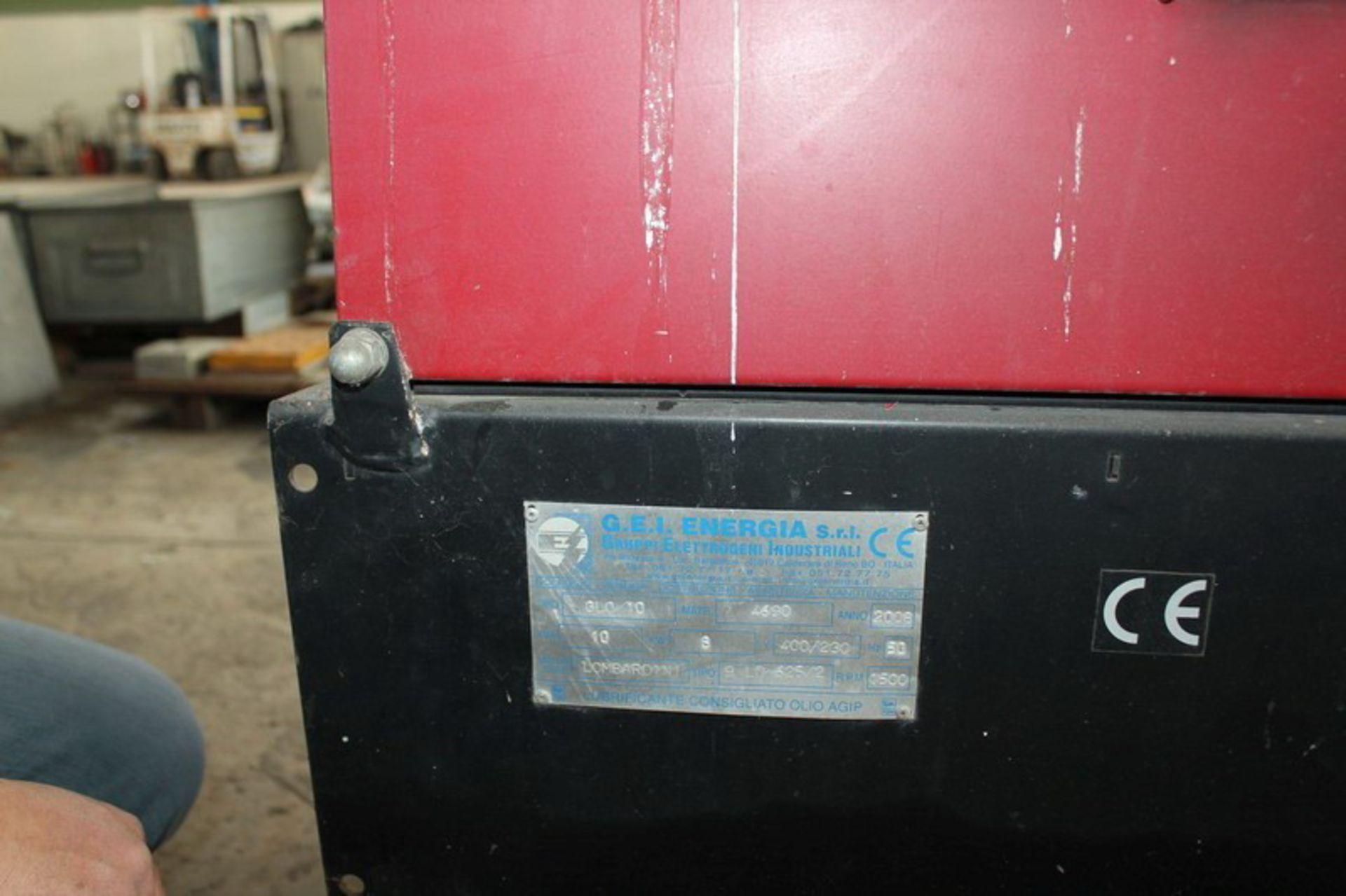 Lotto 129 - N. 18 (V.F. 929) GENERATORE J. ENERGIA SRL DI CORRENTE ANNO 2008 KW. 8