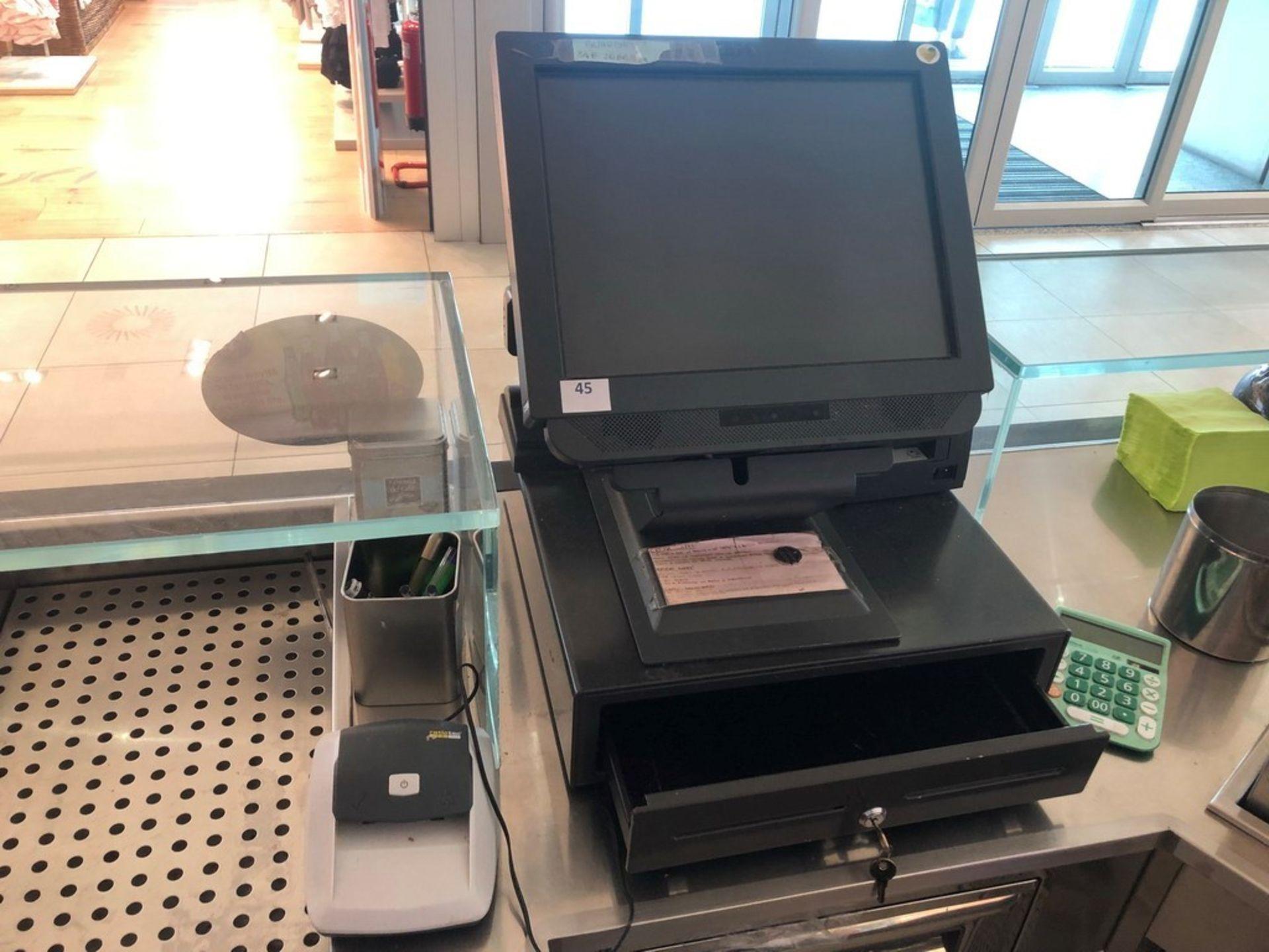 Lotto 47 - N. 45 (FALL. N. 102/19 VR) REGISTRATORE FISCALE IBM 4838-330 CON MONITOR LCD STAMPANTE EPSON E