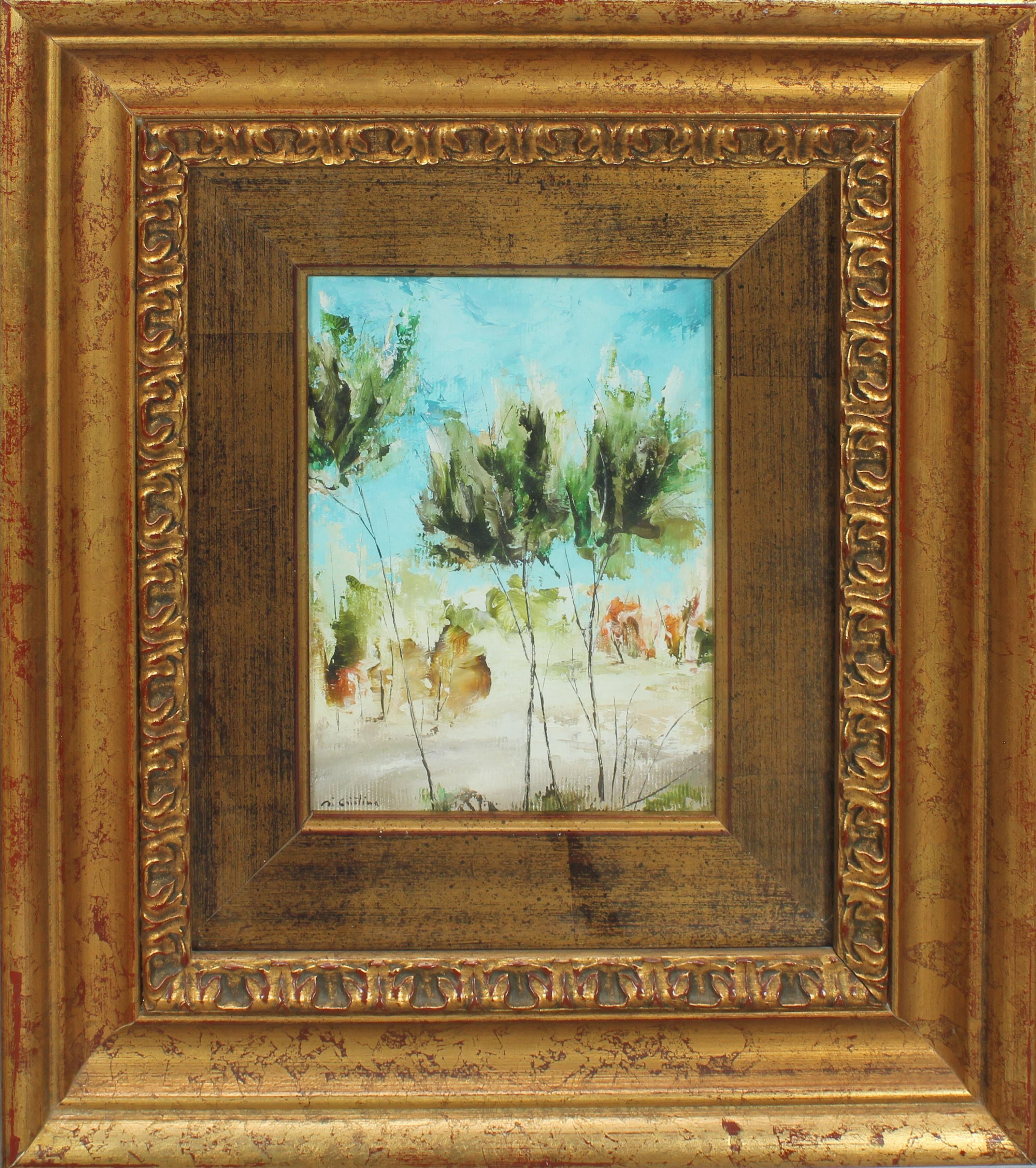 Lot 44 - Paesaggio, a firma di Cristina, olio cm. 14x18
