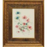Lot 57 - Fiori, a firma Di cristina, tecnica mista, cm. 25x35