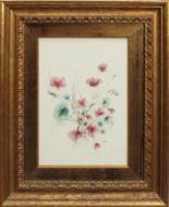 Lot 33 - Fiori, a firma Di Cristina, acquerello, cm. 24x36