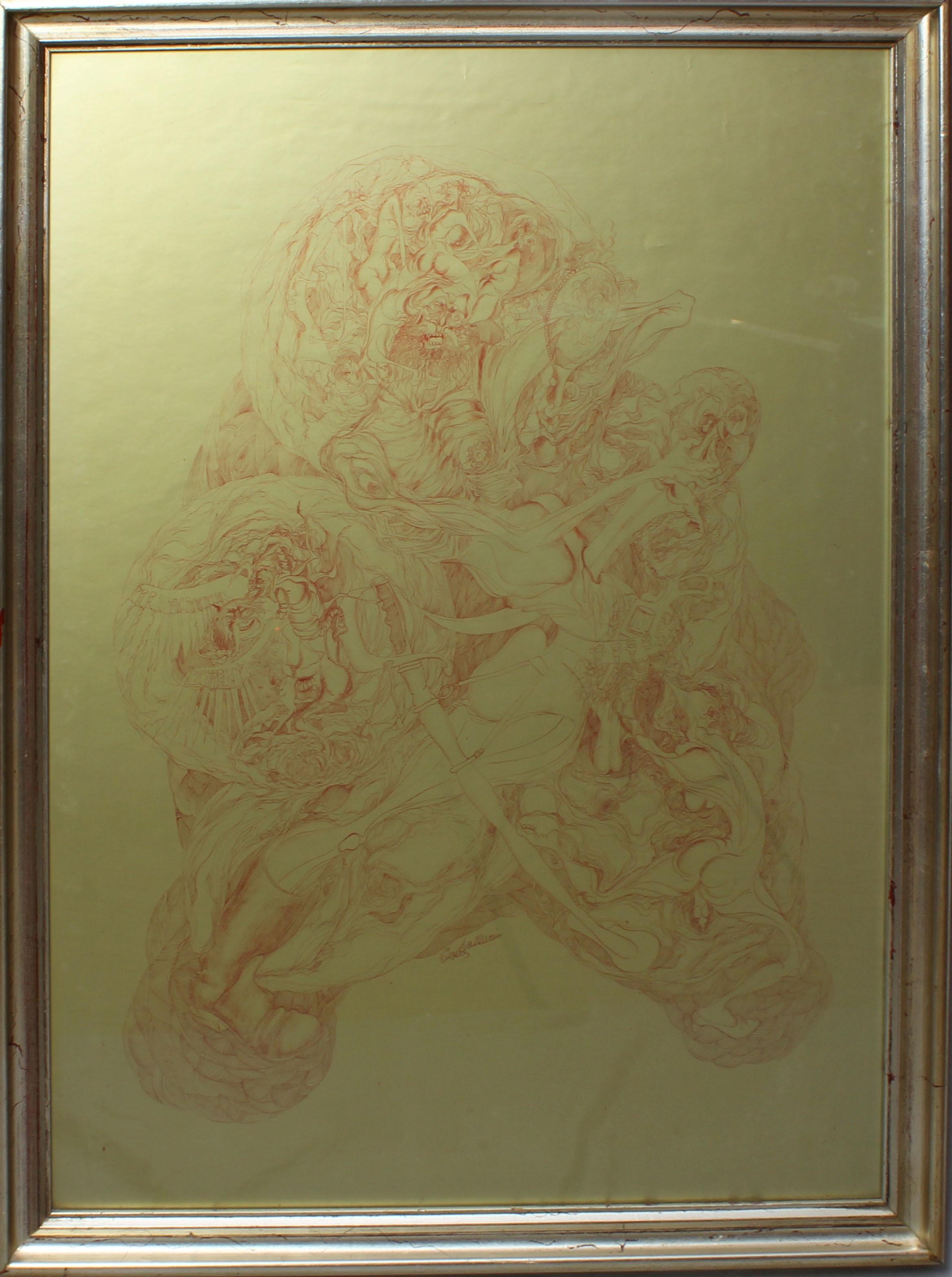 Lot 5 - Astratto, grafica a firma Lazzarini, cm. 60x85