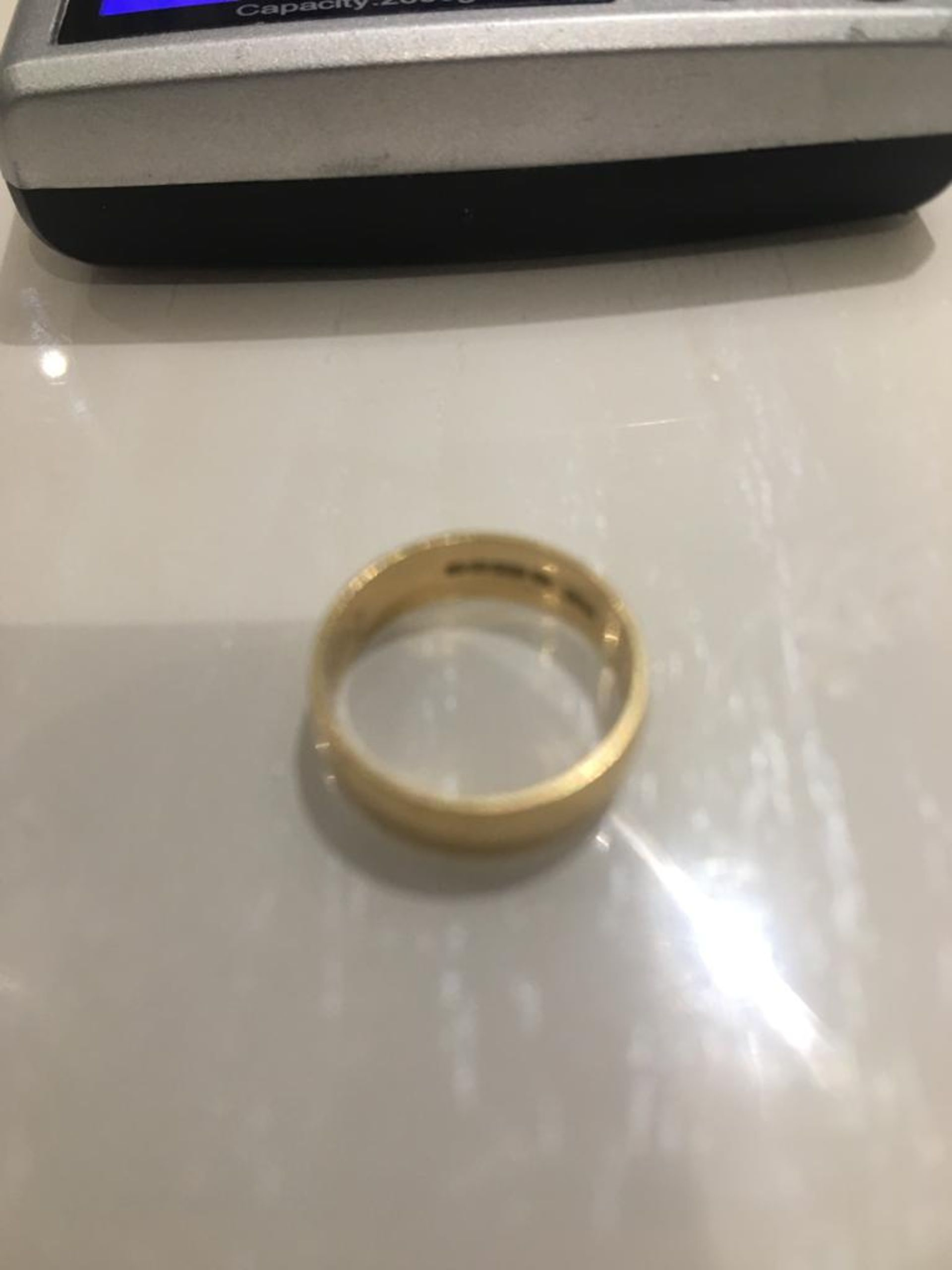 Lot 4 - 18CT SOLID GOLD WEDDING BAND RING