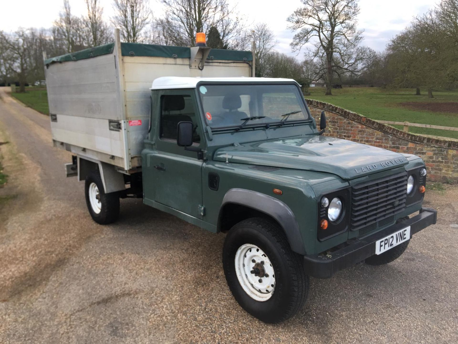 Lot 5A - 2012 LAND ROVER DEFENDER 130 SINGLE CAB WITH ALUMINIUM BODY TIPPER *LOW MILEAGE*ONE OWNER FROM NEW*