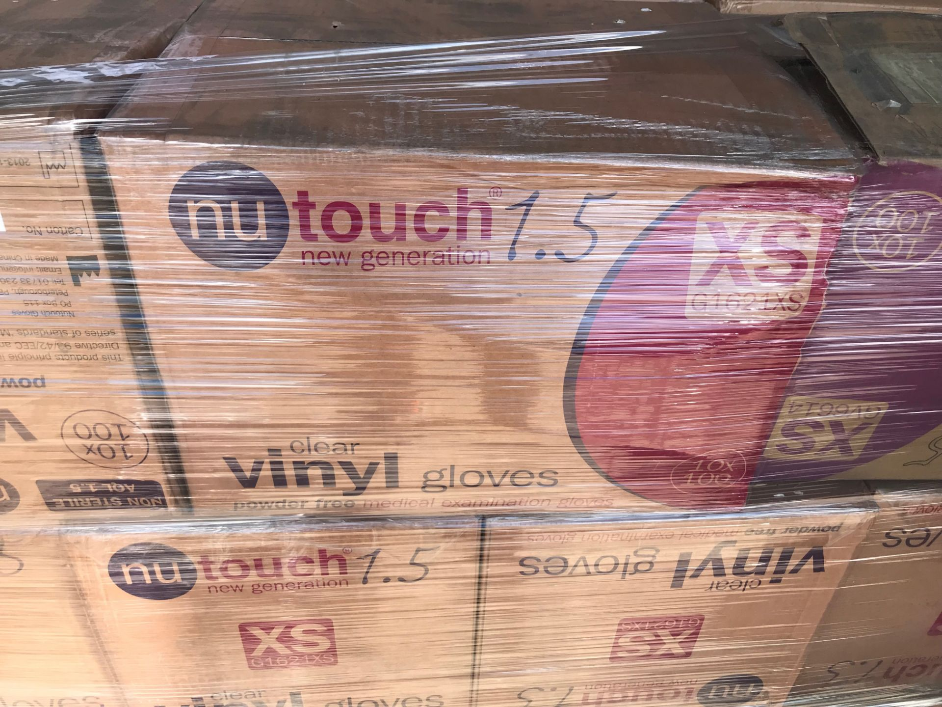 Lot 23 - CLEAR VINYL GLOVES (POWDER FREE) X SMALL 56 CASES ON PALLET