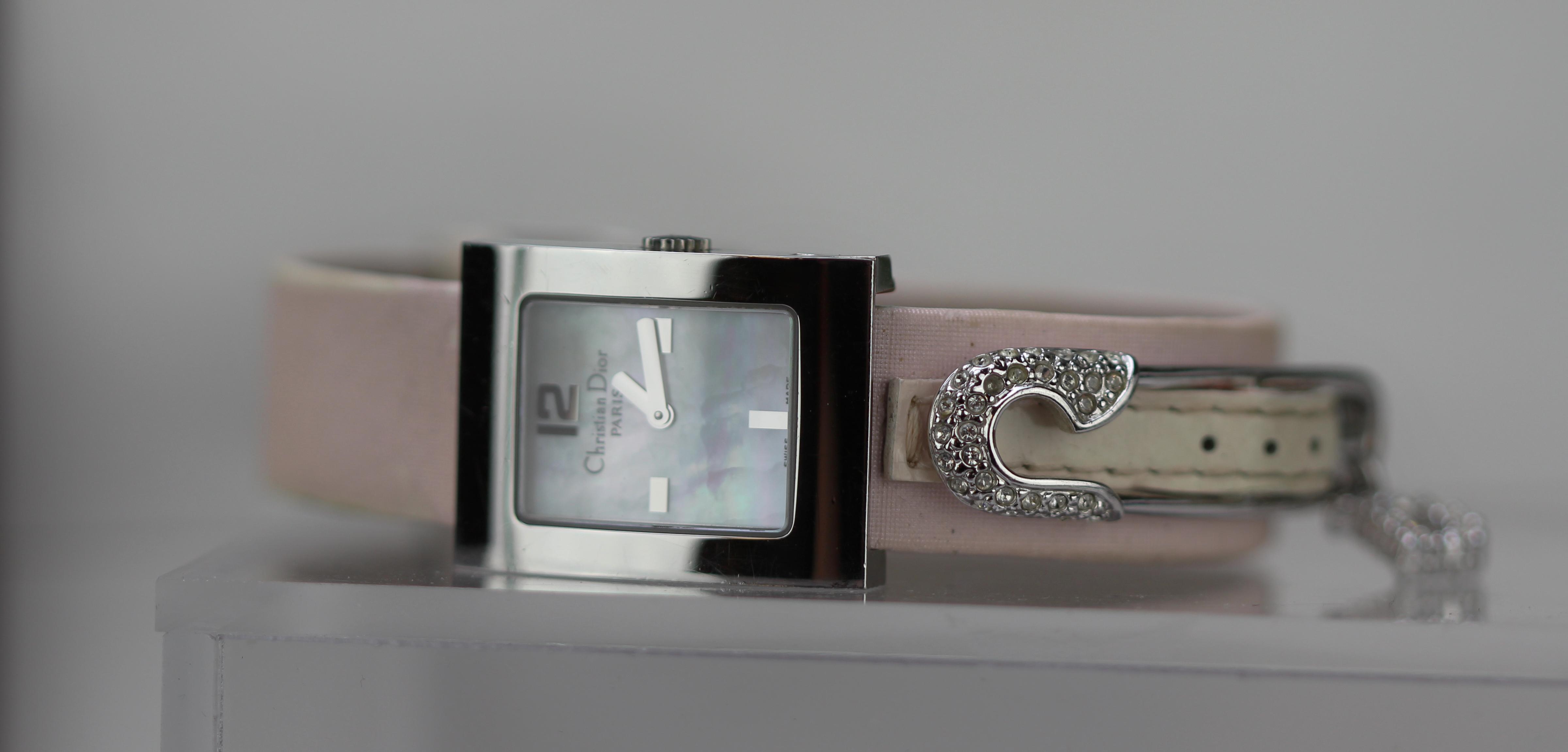 Lot 11 - Christian Dior Malice Factory Diamond Dress Watch.