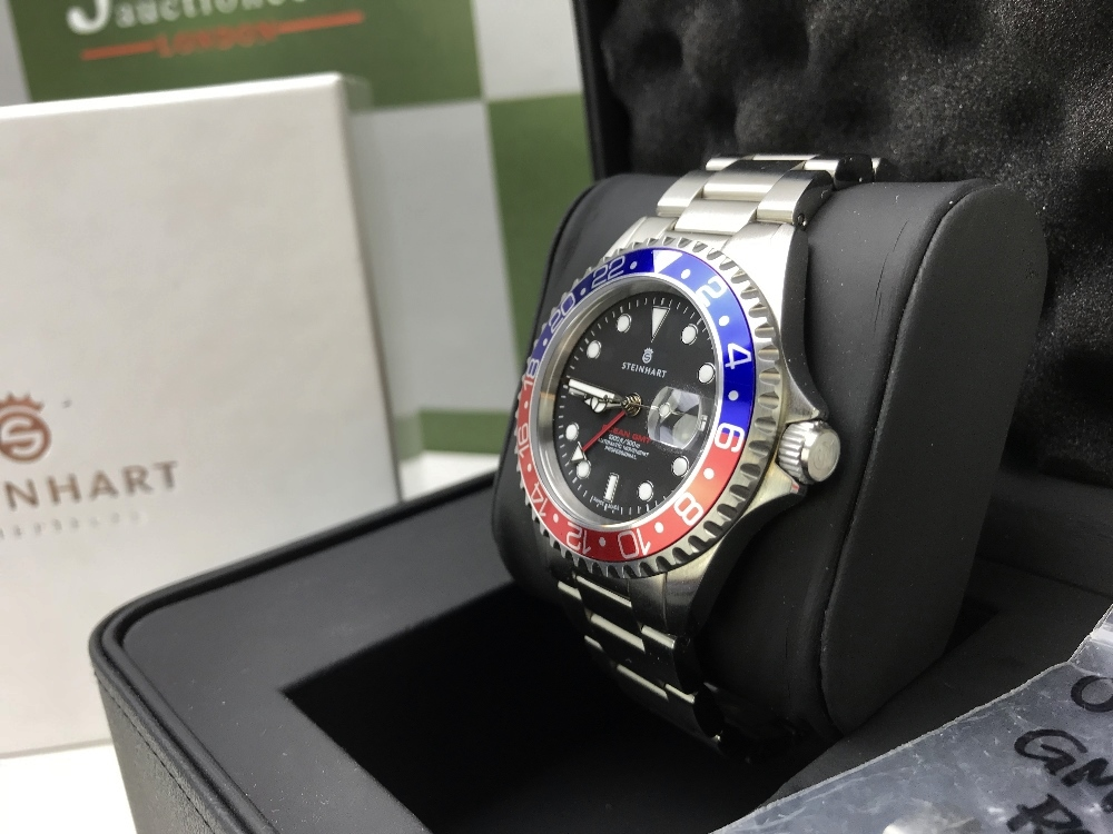 Lot 43 - Steinhart Ocean One Pepsi GMT Edition