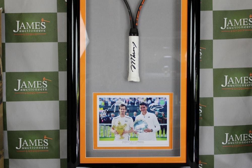 Lot 51 - Andy Murray Wimbledon & Olympic Champion Signed Racket