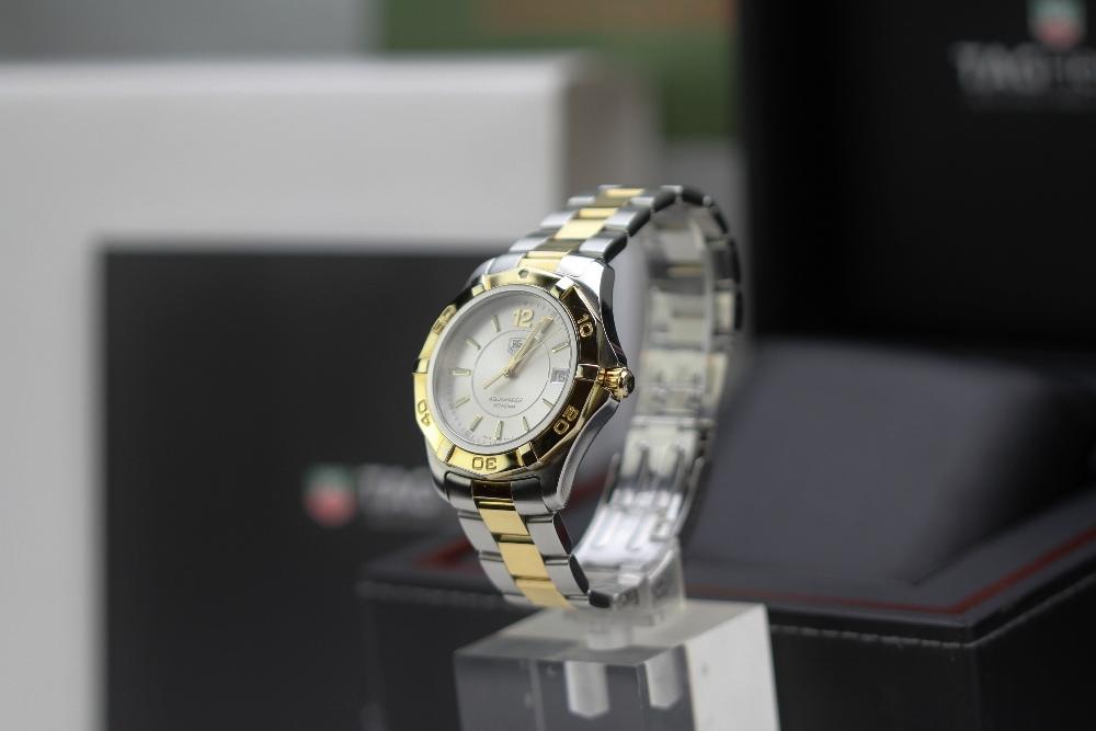 Lot 48 - Tag Heuer Gold Plated & Pearl AquaRacer,Ref -WAF 1120