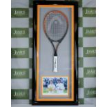 Lot 51 - Andy Murray Wimbledon & Olympic Champion Signed Racket