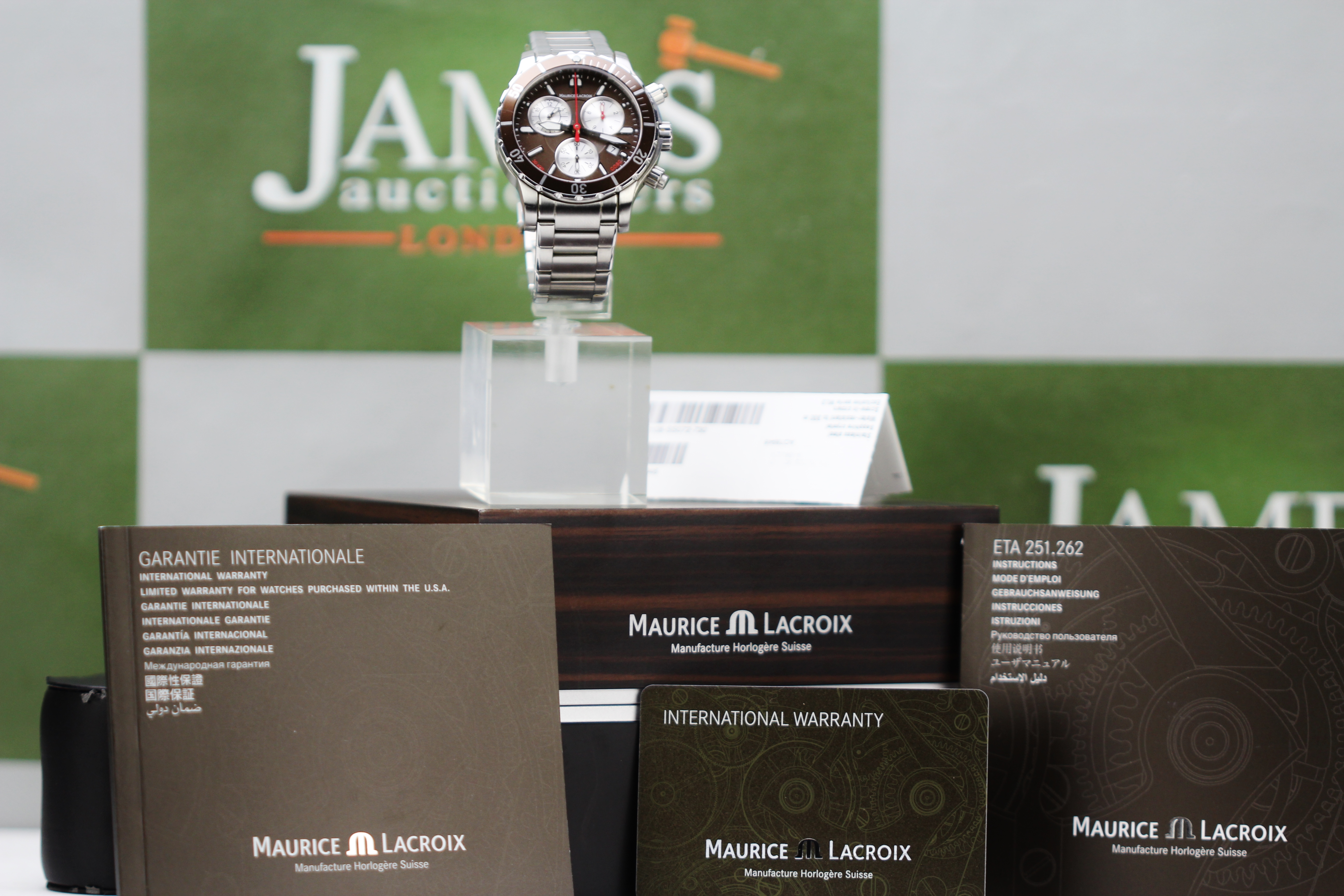 Lot 23 - Maurice Lacroix Miros Diver chronograph, Ex Display