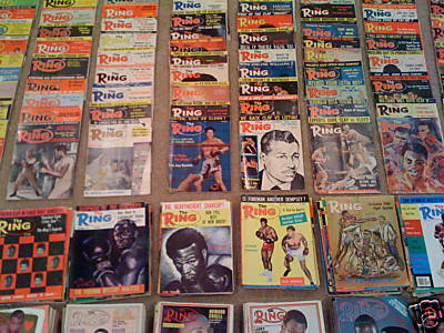 Lot 52 - Boxing -Ring Magazine-Complete Collection- 50`s, 60`s & 70`s