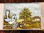 "Lot 250 - Banksy ""Bird & Grenade"" High Quality Print, Size a2"