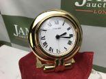 Lot 22 - Cartier Rivoli Gold Plated Large Travel Clock