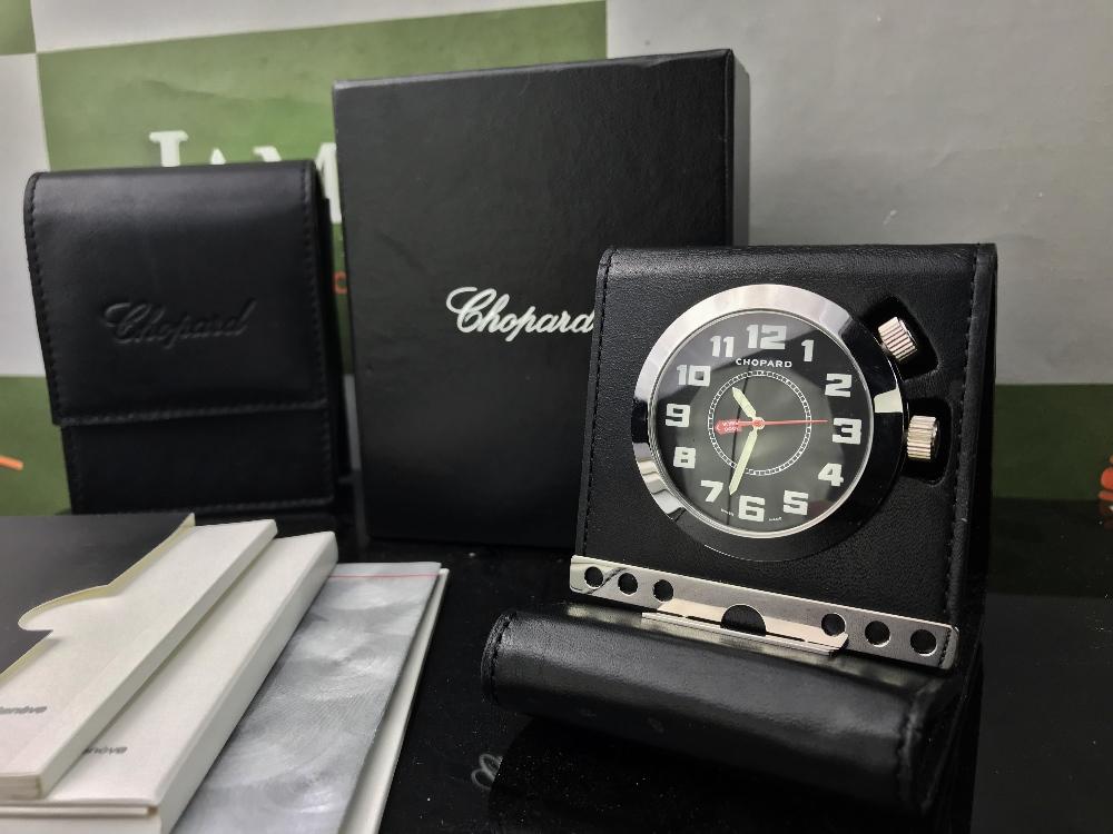 Lot 12 - Chopard Mille Miglia 1000 Travel Alarm Desk Clock